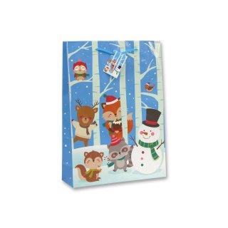 Bambelaa! 12x Geschenktüten Weihnachten Motiv Wintertiere ca.25x8,5x34cm