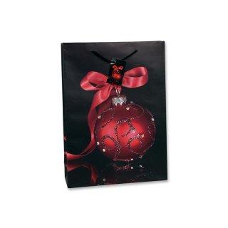 Bambelaa! 12 Stück Geschenktüten Weihnachten Motiv Baumkugel Rot Ca. 25x8,5x34 cm