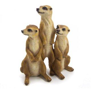 Bambelaa! Erdmännchen Familie 3er Set (ca. 15,5 x 7,5 x 20,5 cm)