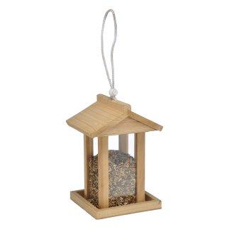 Bambelaa! Vogelfutterhaus mit Aufhängevorrichtung ca. 14,5 x 14,5 x 22cm