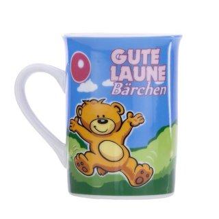 Bambelaa! Kaffeebecher: Gute Laune - Bärchen, aus Porzellan, 265ml