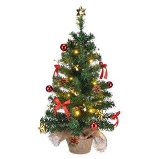 Bambelaa! Künstlicher Weihnachtsbaum Christbaum 75cm Rot/Gold