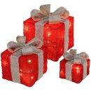 Bambelaa! Led Deko Leucht Geschenk Boxen 3er Set inkl. Timer Funktion