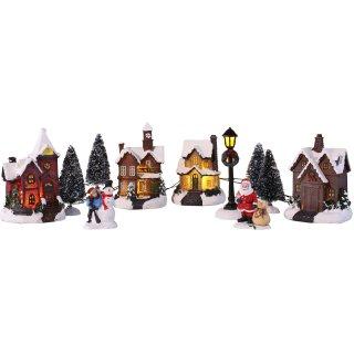 Bambelaa! Weihnachtsstadt 11 tlg. Winterdorf Weihnachtsszene Beleuchtet