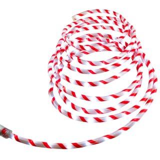 Bambelaa! LED Lichterschlauch Weihnachten Zuckerstange ca 6m rot weiß