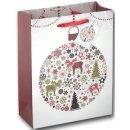 12x Geschenktüten Weihnachten Motiv Skandi Elch ca....