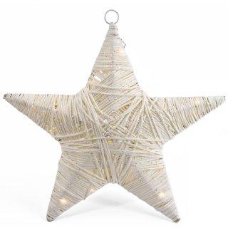 Bambelaa! LED Weihnachtsstern Dekoration ca. 30 cm Weiß