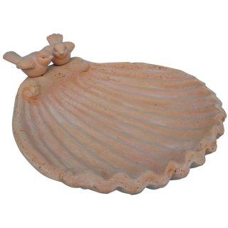 Bambelaa! Vogeltränke Blume mit Vogel Magnesia Grau Steinoptik