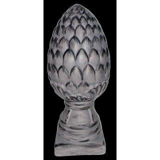 Bambelaa! Artischocke auf Sockel L, Terrakotta, grau gebürstet ca. 14x33cm