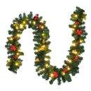 Bambelaa! Weihnachtstannengirlande 80 LED 5m Mit...